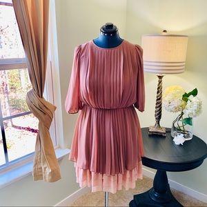 Jessica Simpson Accordian Ruffle Dress Size 10